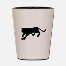 Cougar Silhouette Shot Glass