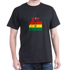 I love Bolivia Flag T-Shirt