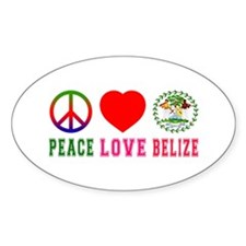 Peace Love Belize Decal