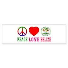 Peace Love Belize Bumper Sticker