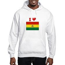 I love Bolivia Flag Hoodie