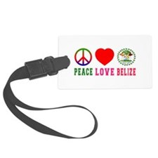 Peace Love Belize Luggage Tag