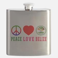Peace Love Belize Flask