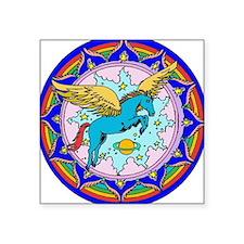 "Cute Pegasus Square Sticker 3"" x 3"""