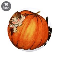"Cute Vintage halloween 3.5"" Button (10 pack)"