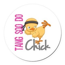 Tang Soo Do Chick 2 Round Car Magnet