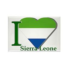 I love Sierra Leone Rectangle Magnet