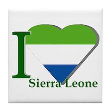I love Sierra Leone Tile Coaster
