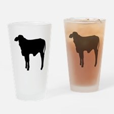 Calf Silhouette Drinking Glass