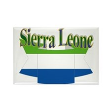 Sierra Leone flag ribbon Rectangle Magnet