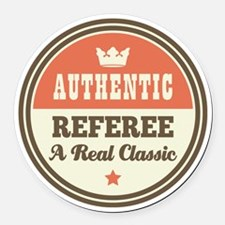 Referee Vintage Round Car Magnet