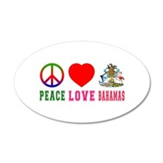 Peace Love Bahamas Wall Decal