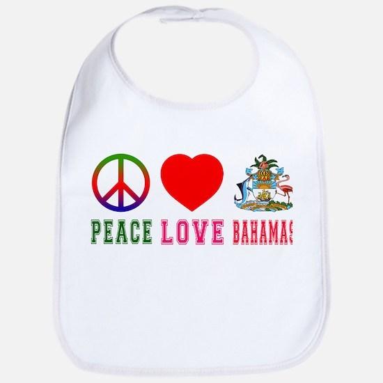 Peace Love Bahamas Bib