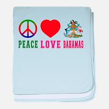 Peace Love Bahamas baby blanket