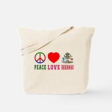 Peace Love Bahamas Tote Bag