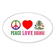 Peace Love Bahamas Decal