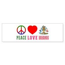 Peace Love Bahamas Bumper Sticker