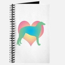 borzoi multicolor heart Journal