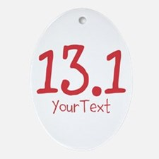 Customize RED 13.1 Ornament (Oval)