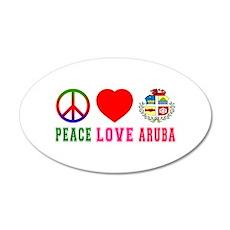 Peace Love Aruba Wall Sticker