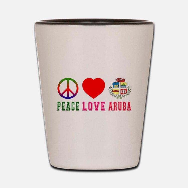 Peace Love Aruba Shot Glass
