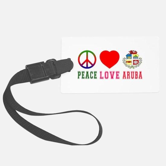 Peace Love Aruba Large Luggage Tag