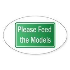 Feed the Models Oval Bumper Stickers