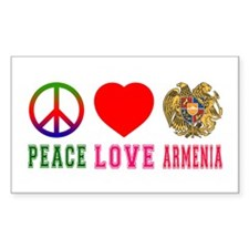 Peace Love Armenia Decal