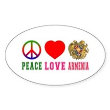 Peace Love Armenia Decal