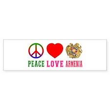 Peace Love Armenia Bumper Sticker