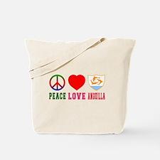 Peace Love Anguilla Tote Bag