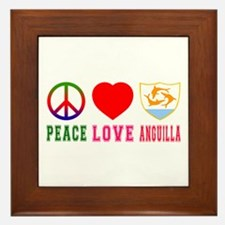 Peace Love Anguilla Framed Tile