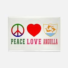 Peace Love Anguilla Rectangle Magnet