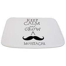 Keep Calm Mustache Bathmat