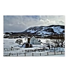 Park City Barn in Snow Postcards (Package of 8)