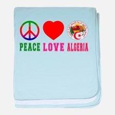 Peace Love Algeria baby blanket