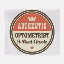 Optometrist Vintage Throw Blanket