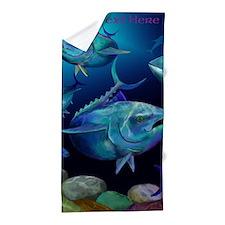 Blue Fin Tuna Design Beach Towel