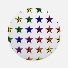 Pride Star Square Round Ornament
