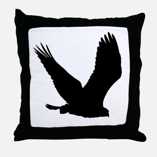 Hawk Silhouette Throw Pillow