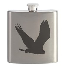 Hawk Silhouette Flask