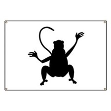 Baboon Silhouette Banner