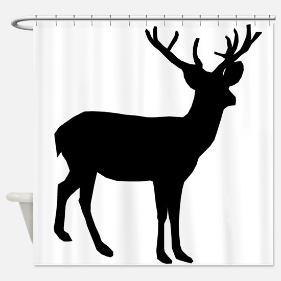 Buck Silhouette Shower Curtain