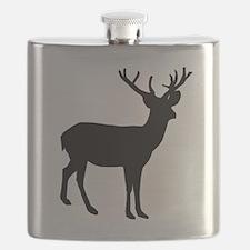 Buck Silhouette Flask