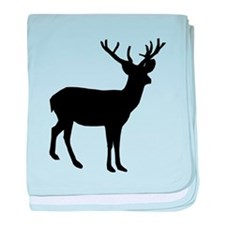 Buck Silhouette baby blanket