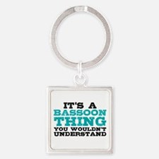 Bassoon Thing Square Keychain