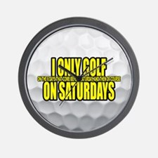I Only Golf On Saturdays Wall Clock