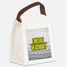 I Only Golf On Saturdays Canvas Lunch Bag