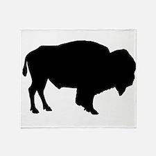 Buffalo Silhouette Throw Blanket