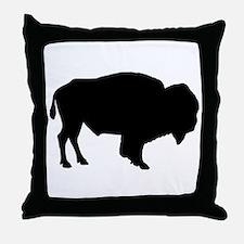 Buffalo Silhouette Throw Pillow